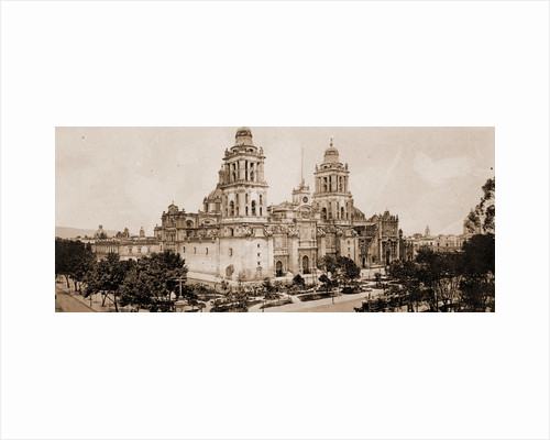 The cathedral, City of Mexico by William Henry Jackson
