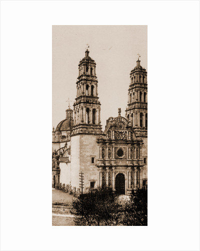 Mexico, the Cathedral by William Henry Jackson