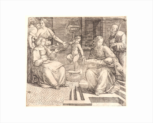 The Holy Family, with St. Elizabeth and the Infant St. John the Baptist, 16th century by Giacomo Francia