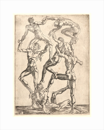 Acrobats, 16th century by Jean Viset
