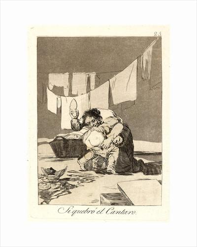 Si quebró el Cantaro. (Yes he broke the pot.), 1796-1797 by Francisco de Goya
