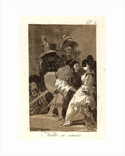 Nadie se conoce. (Nobody knows himself.), 1796-1797 by Francisco de Goya