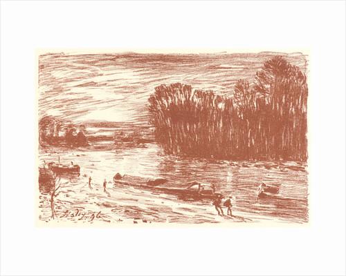 Banks of the Loing (Bords du Loing, près Saint-Mammès), 1896 by Alfred Sisley