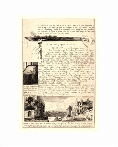 Letter on the Elements of Etching, second sheet, 1864 by Adolphe Martial Potémont