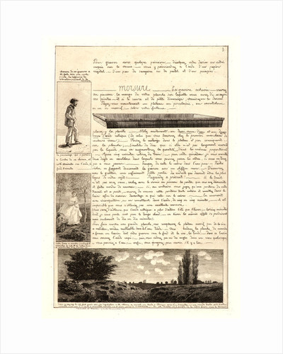 Letter on the Elements of Etching, third sheet, 1864 by Adolphe Martial Potémont