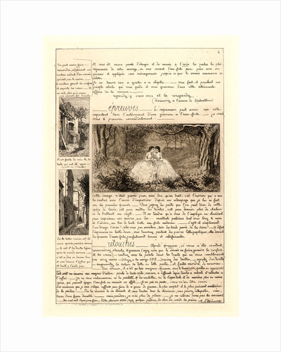 Letter on the Elements of Etching, fourth sheet, 1864 by Adolphe Martial Potémont