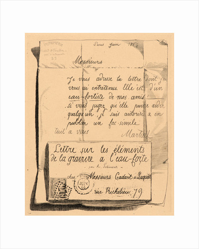 Letter on the Elements of Etching, title sheet, 1864 by Adolphe Martial Potémont