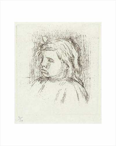 Portrait of Claude Renoir. Soft ground etching. by Pierre-Auguste Renoir