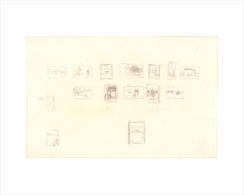 Sketch for the Selection and Arrangement of Whistler's First Venice Set, ca. 1879-1880 by James McNeill Whistler