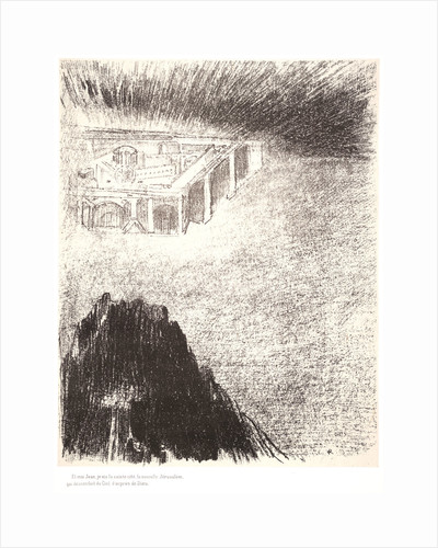 And I John saw the holy city, new Jerusalem, coming down from God out of heaven, 1899 by Odilon Redon