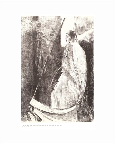 And another angel came out of the temple which is in heaven, and he also having a sharp sickle, 1899 by Odilon Redon