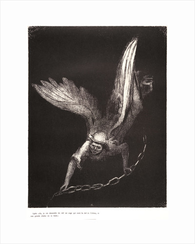 And I saw an angel come down from heaven, having the key of the bottomless pit and a great chain in his hand, 1899 by Odilon Redon