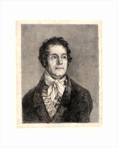 Portrait of the Printer Cyprien-Charles-Marie Nicolas Gaulon (Portrait de L'Imprimeur Gaulon), ca. 1825-1826 by Francisco de Goya