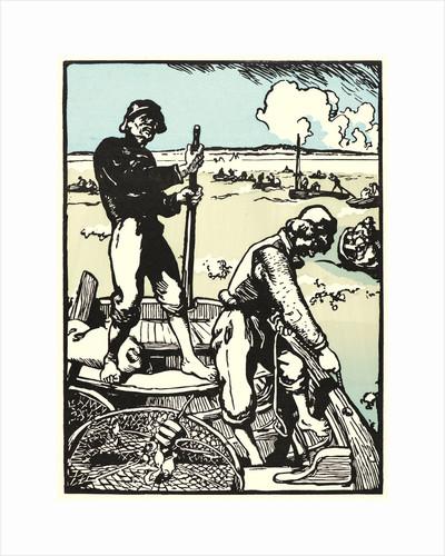 Loups de Mer (Shrimp Fishermen), 1898 by Auguste Louis Lepère