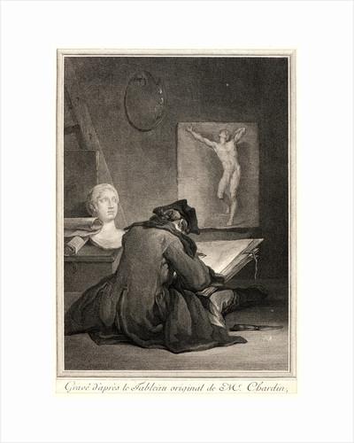 A Student Drawing (Le Dessinateur), 1757 by Jean-Jacques Flipart