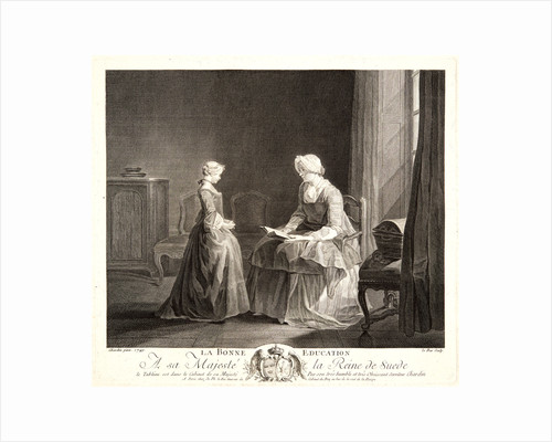 The Right Education (La Bonne Éducation), ca. 1757 by Jacques Philippe Le Bas