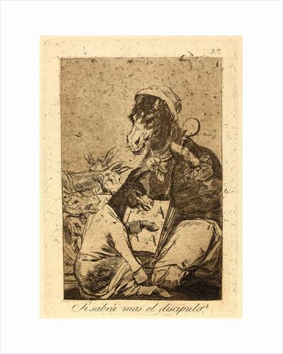 Si sabrá mas el discipulo? (Might not the pupil know more?), 1796-1797 by Francisco de Goya