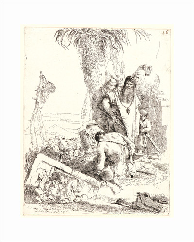 A Shepherd with Two Magicians, ca. 1735-1740 by Giovanni Battista Tiepolo