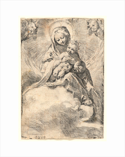 Virgin and Child on a Cloud by Federico Barocci