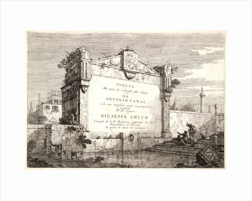 The Title Page: Views, some taken from nature, some invented... (Titre. Vedute), 18th century by Canaletto