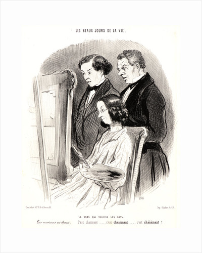 La dame qui cultive les arts, 1846 by Honoré Daumier