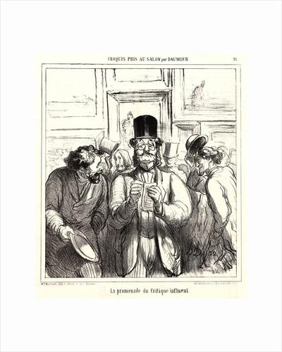 La promenade du critique influent, 1865 by Honoré Daumier