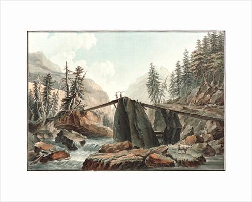 The Devil's Bridge, ca. 1780- 1790 by Charles-Melchior Descourtis