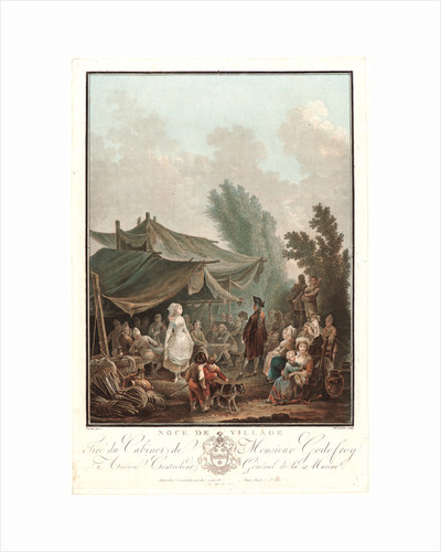 Village Wedding (Noce de Village), 1785 by Charles-Melchior Descourtis