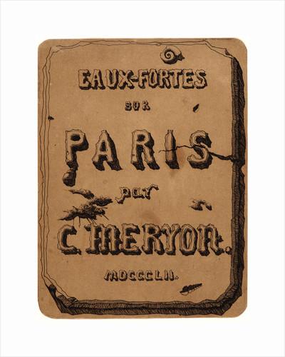Title de Vues de Paris, 1852 by Charles Meryon