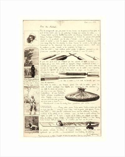 Letter on the Elements of Etching (Lettre sur les éléments de la gravure à l'eau-forte), first sheet, 1864 by Adolphe Martial Potémont