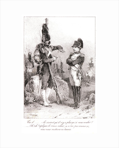 Napoléon and the Old Soldier, 19th century by Nicolas Toussaint Charlet