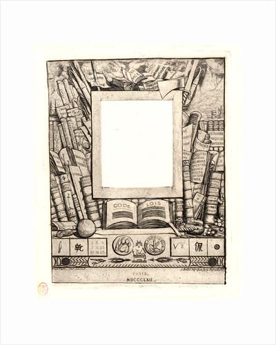 Design for a frame for the Portrait of Armand Guéraud (Projet d'Encadrement pour le Portrait d'Armand Guéraud), 1862 by Charles Meryon