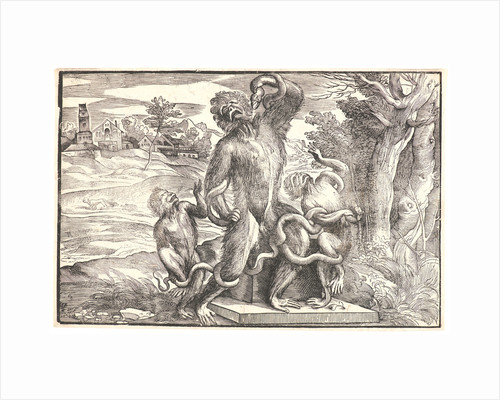 Caricature of the Laocoön Group, ca. 1540-1545 by Nicolò Boldrini