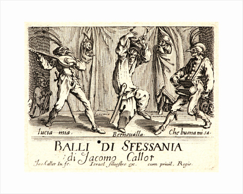 Balli di Sfessania, Title Plate, 1622 and later by Jacques Callot
