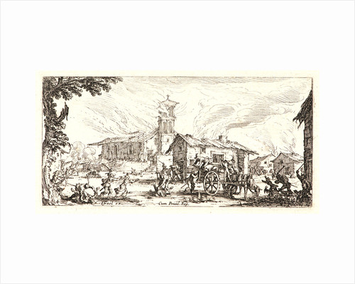 Pillage and Burning of a Village (Pillage et Incendie d'un Village), 1636 by Jacques Callot
