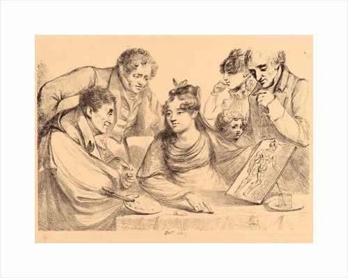 Women at a Table Holding a Painting, 1819 by Vivant Denon
