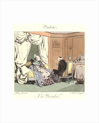 Un Boudoir (Jadis), 1829 by Henry Bonaventure Monnier
