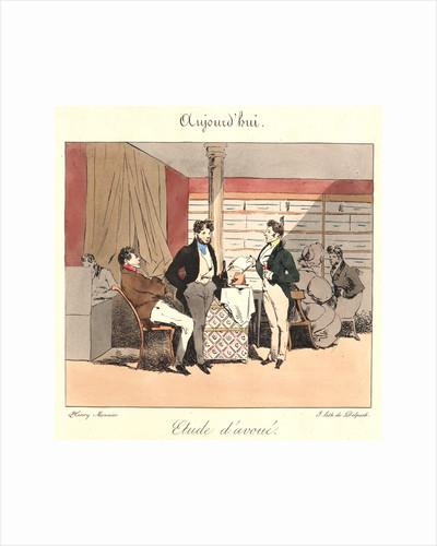 Etude d'avoue (Aujourd'hui), 1829 by Henry Bonaventure Monnier