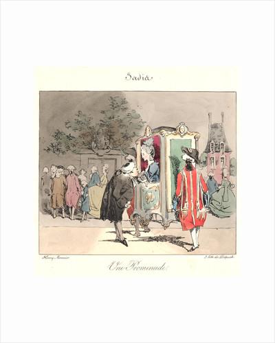 Un Promenade (Jadis), 1829 by Henry Bonaventure Monnier