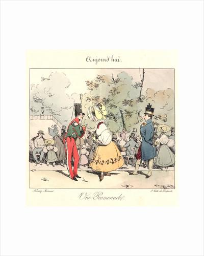 Un Promenade (Aujourd'hui), 1829 by Henry Bonaventure Monnier