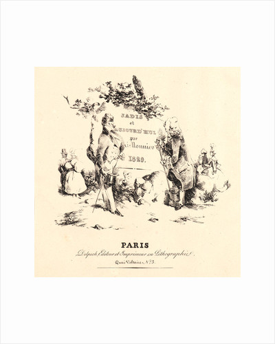 Frontispiece for The 18th Century and Today (Jadis et Aujourd'hui), 1829 by Henry Bonaventure Monnier