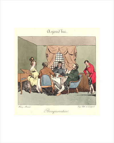 Banqueroutiers (Aujourd'hui), 1829 by Henry Bonaventure Monnier