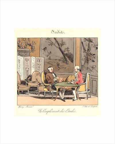 Le Complement des Etudes (Jadis), 1829 by Henry Bonaventure Monnier