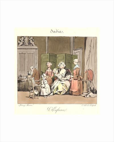 L'enfance (Jadis), 1829 by Henry Bonaventure Monnier