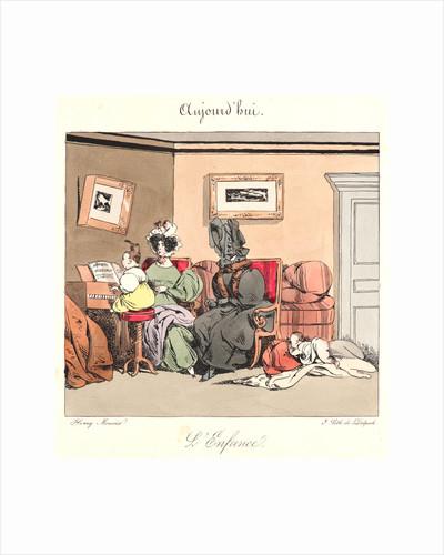 L'enfance (Aujourd'hui), 1829 by Henry Bonaventure Monnier
