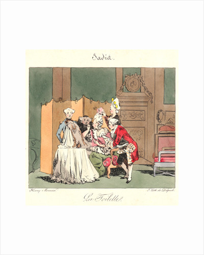 La Toilette (Jadis), 1829 by Henry Bonaventure Monnier