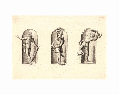 Several Gods of Classical Antiquity (Plusieurs Divinités de l'Antiquiteé Paienne), plate 1, 1578 by Etienne Delaune