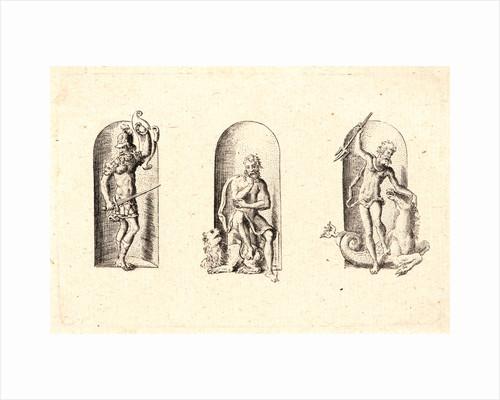 Several Gods of Classical Antiquity (Plusieurs Divinités de l'Antiquiteé Paienne), plate 2, 1578 by Etienne Delaune