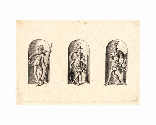 Several Gods of Classical Antiquity (Plusieurs Divinités de l'Antiquiteé Paienne), plate 3, 1578 by Etienne Delaune