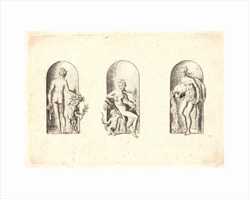 Several Gods of Classical Antiquity (Plusieurs Divinités de l'Antiquiteé Paienne), plate 5, 1578 by Etienne Delaune